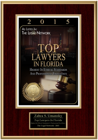 Zahra Umansky Top Lawyers Florida